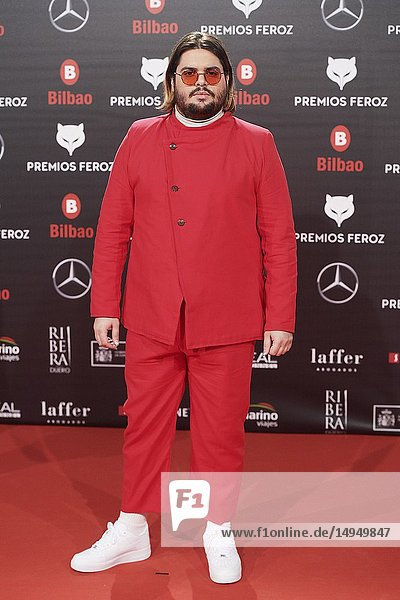 Brays Efe attends the 2019 Feroz Awards at Bilbao Arena on January 19  2019 in Madrid  Spain