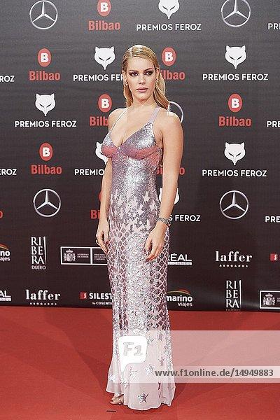 Alejandra Onieva attends the 2019 Feroz Awards at Bilbao Arena on January 19  2019 in Madrid  Spain
