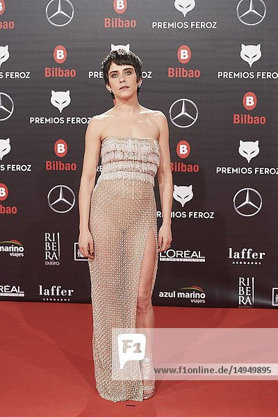 Maria Leon attends the 2019 Feroz Awards at Bilbao Arena on January 19  2019 in Madrid  Spain