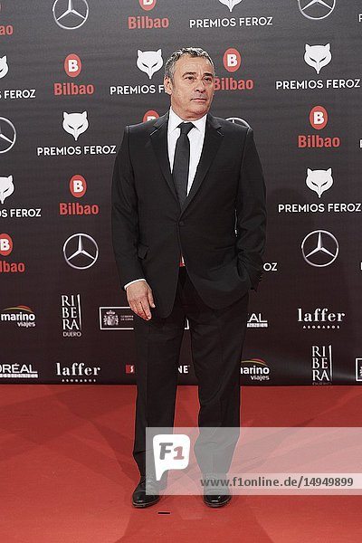 Eduard Fernandez attends the 2019 Feroz Awards at Bilbao Arena on January 19  2019 in Madrid  Spain