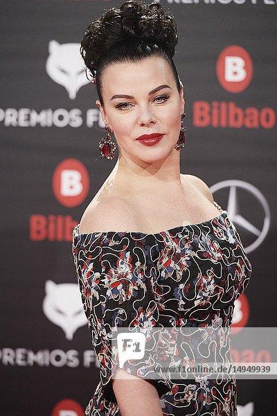 Debi Mazar attends the 2019 Feroz Awards at Bilbao Arena on January 19  2019 in Madrid  Spain