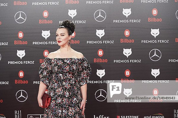 Debi Mazar attends the 2019 Feroz Awards at Bilbao Arena on January 19  2019 in Madrid  Spain
