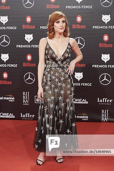 Natalia de Molina attends the 2019 Feroz Awards at Bilbao Arena on January 19  2019 in Madrid  Spain