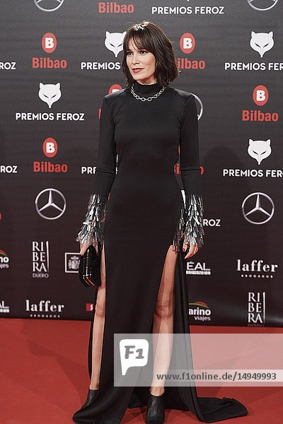 Celia Freijeiro attends the 2019 Feroz Awards at Bilbao Arena on January 19  2019 in Madrid  Spain