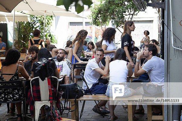 Toni & Esther Coiffee House on Levinsky Market in Tel Aviv  Isarel.