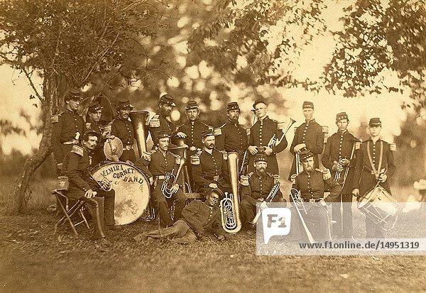 Elmira Cornet Band  Thirty-third Regiment  of the New York State Volunteers  July 1861