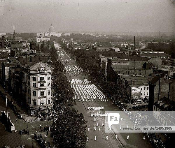 Ku Klux Klan parade  DC.
