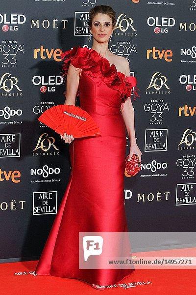 Ruth Gabriel attends the Spanish Cinema awards Goya 33rd edition at FIBE attends 33rd Goya Cinema Awards 2019 at Palacio de Congresos y Exposiciones FIBES on February 3  2019 in Sevilla  Spain.02/02/2019.