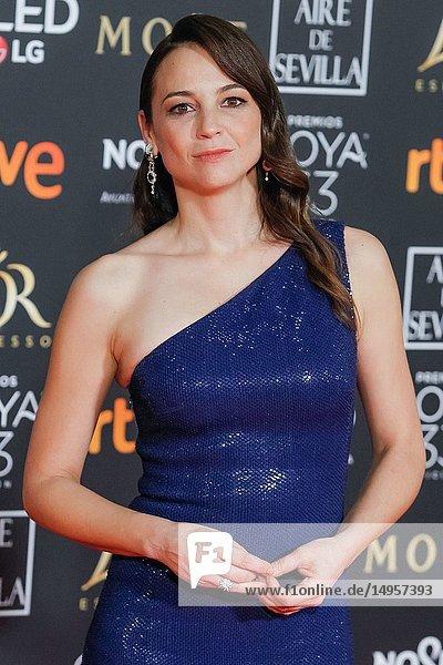Leonor Watling attends the Spanish Cinema awards Goya 33rd edition at FIBE attends 33rd Goya Cinema Awards 2019 at Palacio de Congresos y Exposiciones FIBES on February 3  2019 in Sevilla  Spain.02/02/2019.