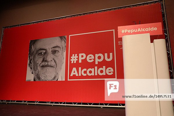 Presentation at the La Latina Theater of independent candidate Pepu Hernandez for the Socialist Party (PSOE) to the Mayor's Office of Madrid.xº