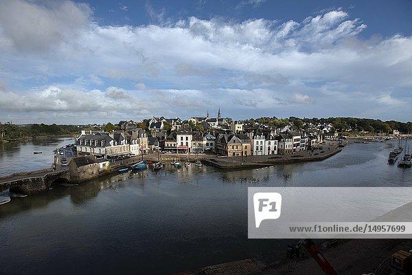 Saint Goustan old city port  Auray river  Morbihan  Bretagne France