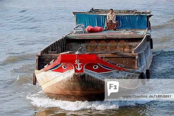 Mekong Delta. Mekong riverboat. Cai Be. Vietnam.