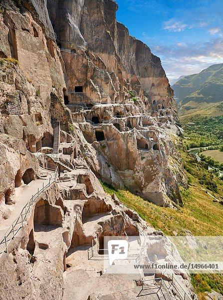 Picture & image of Vardzia medieval cave city and monastery  Erusheti Mountain  southern Georgia (country).