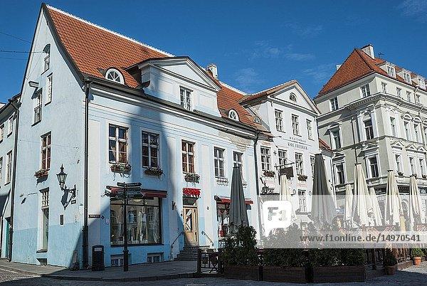 Town Hall Square (Raekoja Plats). Old Town  Tallinn  Estonia  Baltic States.