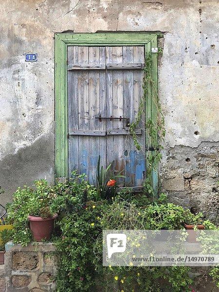 Old door in Nicosia  Cyprus.