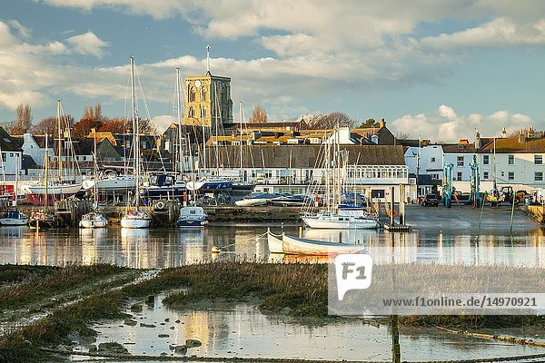 Winter afternoon in Shoreham-by-Sea  West Sussex  England.
