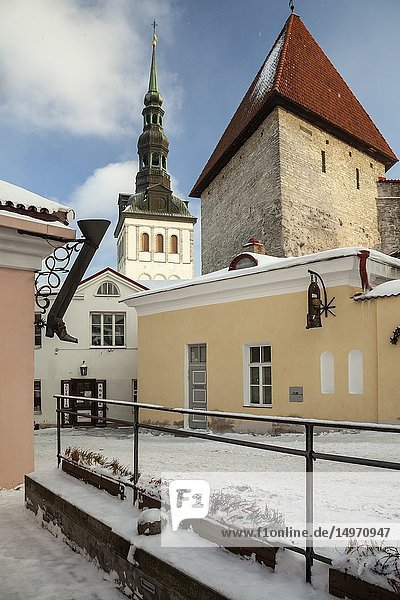 Winter in Tallinn old town  Estonia.