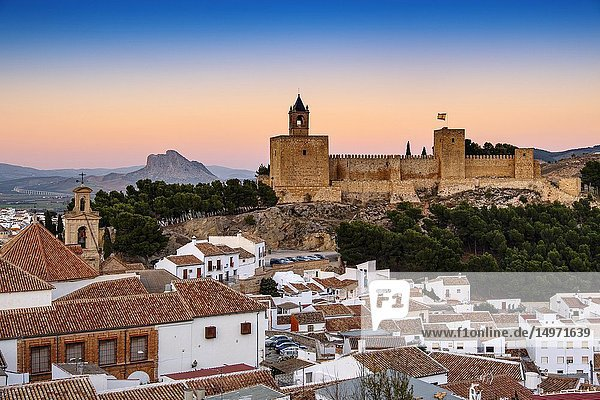 Old town and citadel castle. Monumental city of Antequera  Malaga province. Andalusia  Southern Spain. Europe.