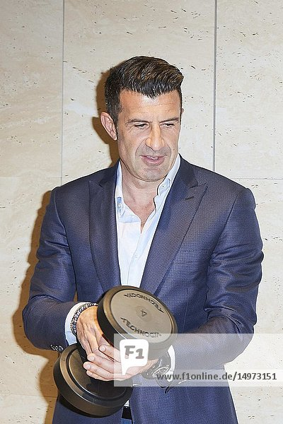 Luis Figo attends Opening of the new Technogym wellness space on February 26  2019 in Madrid  Spain