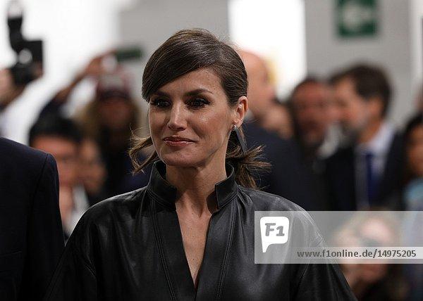 The Queen Letizia has inaugurated the Art Fair ARCO 2019 in Madrid