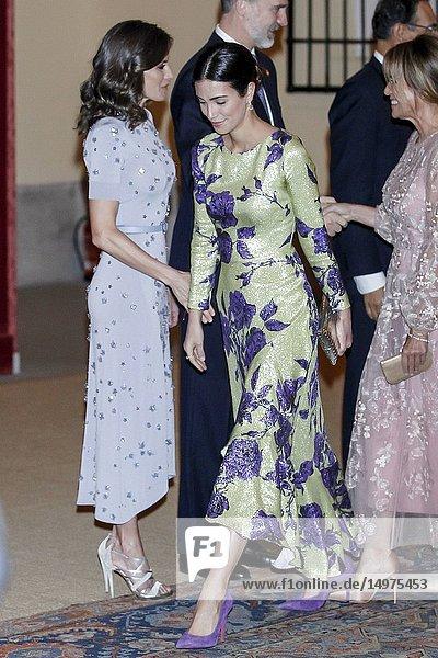 King Felipe VI of Spain  Queen Letizia of Spain  Martin Alberto Vizcarra Cornejo  President of Peru host a reception at El Pardo Palace on February 28  2019 in Madrid  Spain.28/02/2019.