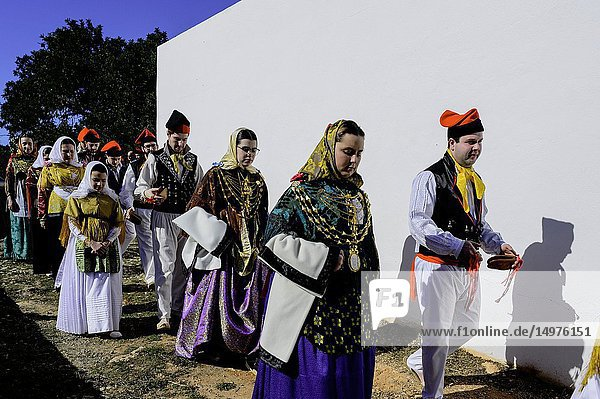 Festivity in Santa Agnès de Corona  Ibiza.