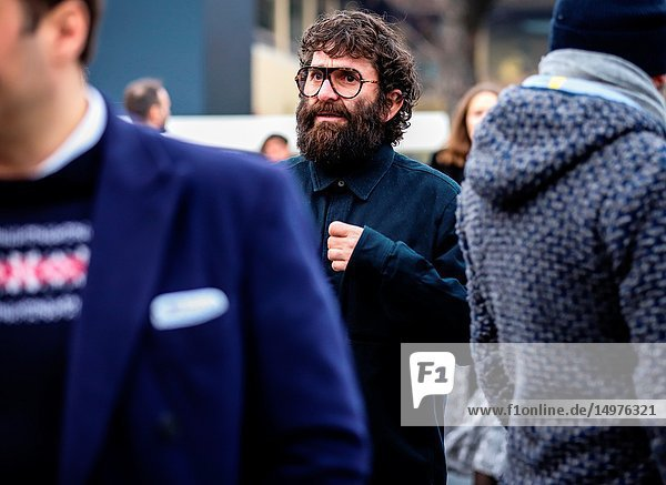 FLORENCE,  Italy- January 8 2019: Yilmaz Aktepe on the street during the Pitti 95.
