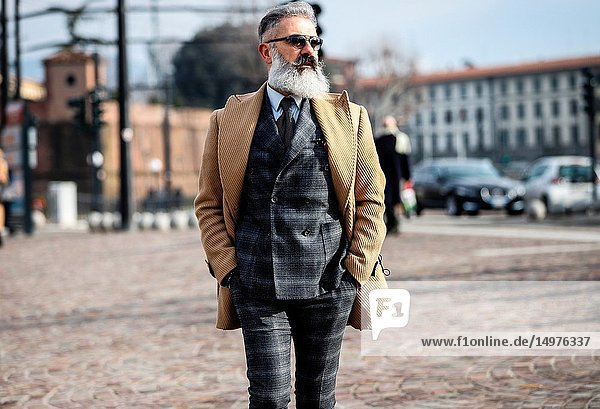 FLORENCE,  Italy- January 9 2019: Vincenzo Di Luca on the street during the Pitti 95.