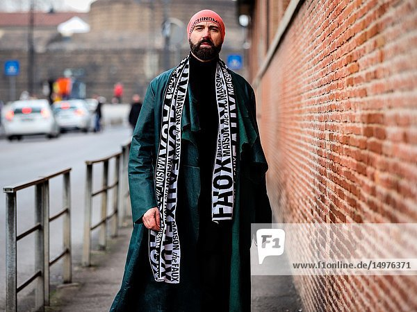 FLORENCE  Italy- January 9 2019: Raimondo Rossi on the street during the Pitti 95.