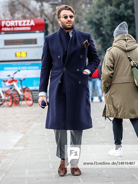 FLORENCE  Italy- January 8 2019: Alessandro Ferrante on the street during the Pitti 95.