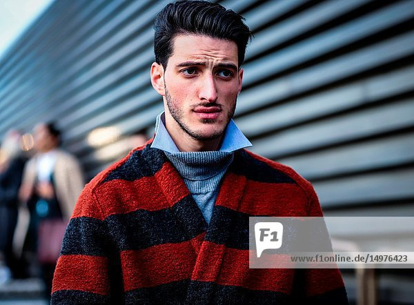 FLORENCE,  Italy- January 10 2019: Nicola Cappiello on the street during the Pitti 95.