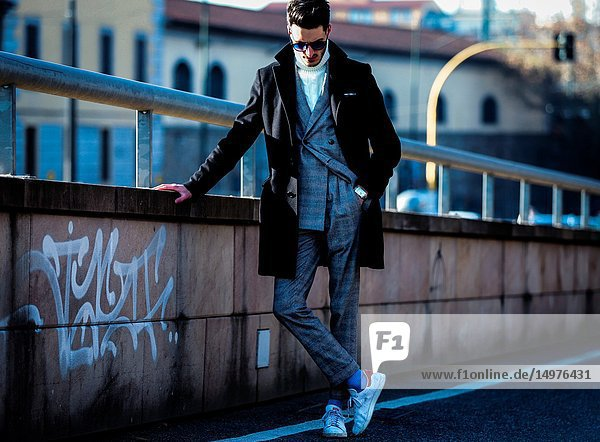 FLORENCE  Italy- January 11 2019: Nicola Cappiello on the street during the Pitti 95.
