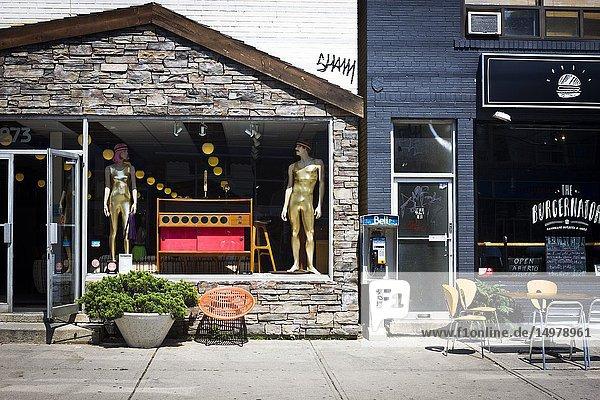 A shop window in the Kensington area of Toronto  Canada.