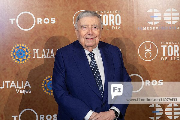 Journalist and Spanish writer Luis María Anson seen attending the event of the PX Paquiro Award Edition