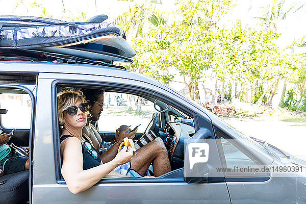 Friends going on surfing trip  Pagudpud  Ilocos Norte  Philippines