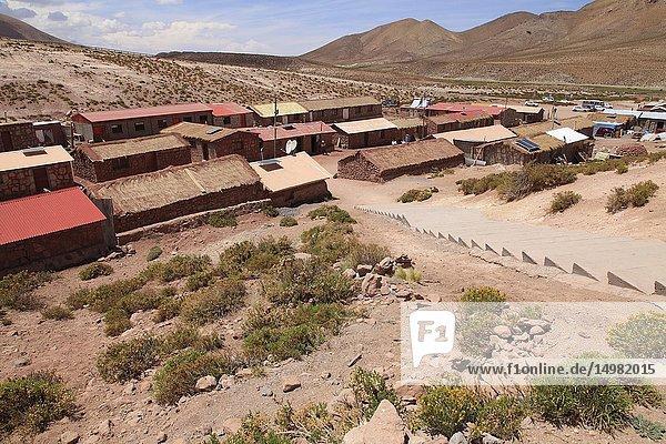 Chile  Antofagasta Region  Machuca  village  general view .