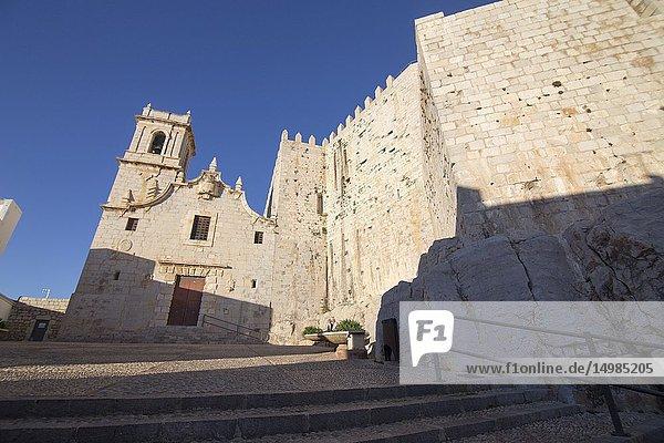 Popes Luna castle at Peniscola medieval village in Castellon province Spain.