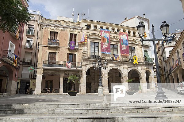 Village of Falset  El Priorat  Tarragona province  Catalonia  Spain on September 12  2018 The city hall.