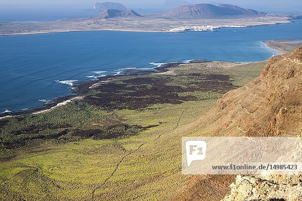 La Graciosa Island panorama. Mirador del Rio  Lanzarote. Spain.