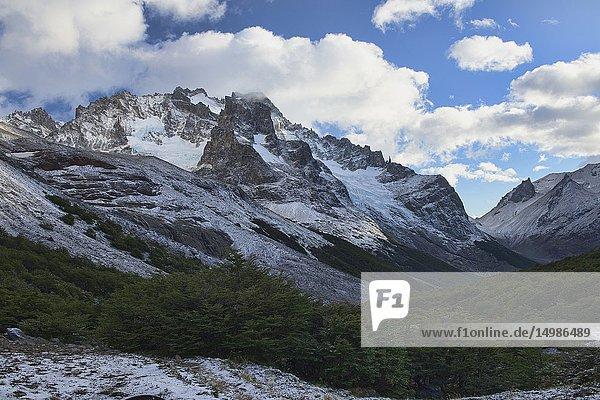 Epic mountain scenery in the beautiful Cerro Castillo Reserve  Aysen  Patagonia  Chile.