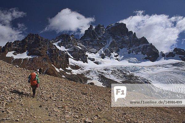 Trekking in the beautiful Cerro Castillo Reserve  Aysen  Patagonia  Chile.
