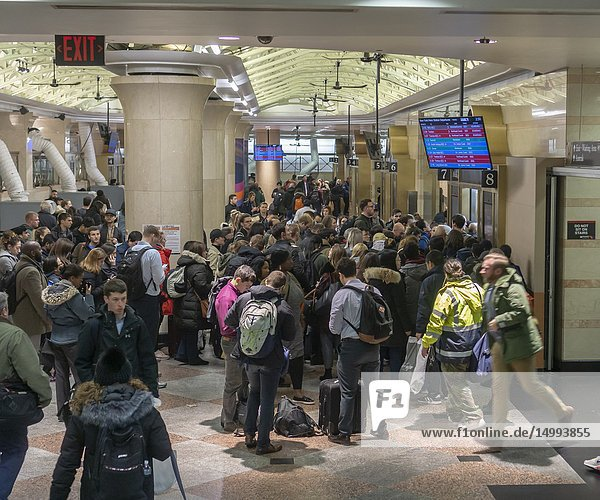Travelers crowd the New Jersey Transit in Pennsylvania Station in New York on Wednesday  November 21  2018  the beginning of the great exodus over the Thanksgiving weekend. According to AAA more than 54 million people are expected to travel more than 50 miles over the weekend and it is expected to be the busiest Thanksgiving since 2005.
