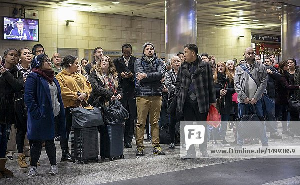 Travelers crowd the Long Island Railroad in Pennsylvania Station in New York on Wednesday  November 21  2018  the beginning of the great exodus over the Thanksgiving weekend. According to AAA more than 54 million people are expected to travel more than 50 miles over the weekend and it is expected to be the busiest Thanksgiving since 2005.