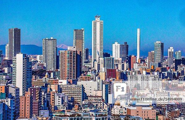 Japan  Tokyo City  Ikebukuro district skyline.