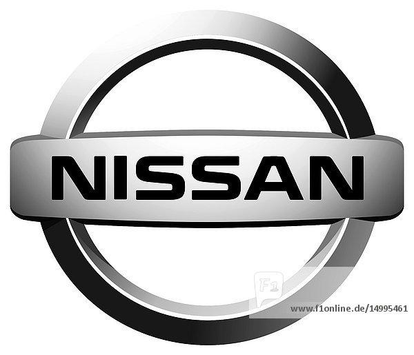 Company logo of Japanese automotive corporation Nissan - Japan..