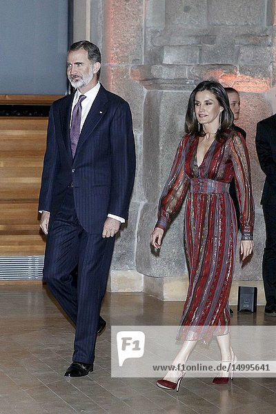 King Felipe VI of Spain  Queen Letizia of Spain attends the Delivery of the National Culture Awards 2017 at The Prado Museum on March 19  2019 in Madrid  Spain.19/03/2019.
