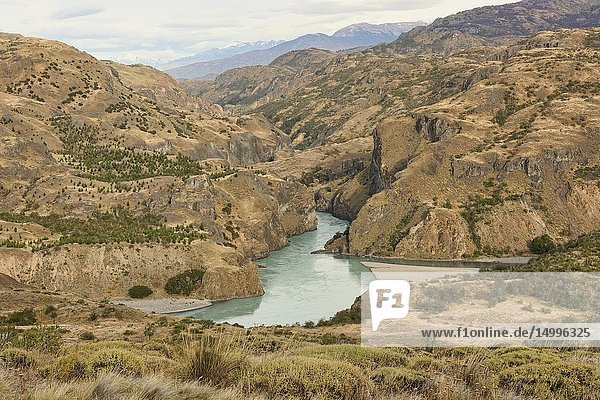 Confluence of the Rio Baker and Rio Chacabuco  Patagonia National Park  Aysen  Patagonia  Chile.