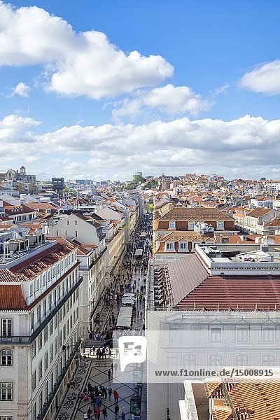 View of the old centre of Lisbon in Portugal.