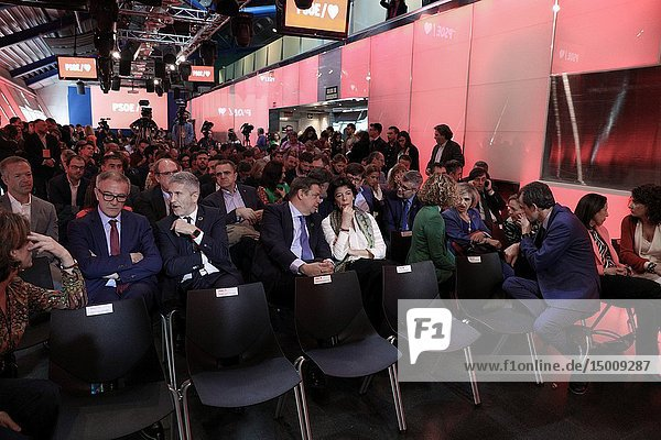 The President of the Government and Secretary General of the PSOE  Pedro Sanchez  presents the electoral campaign of the Socialists.