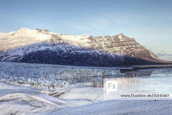 Vatnajokull  glacier  Sudurland  Iceland  Europe.